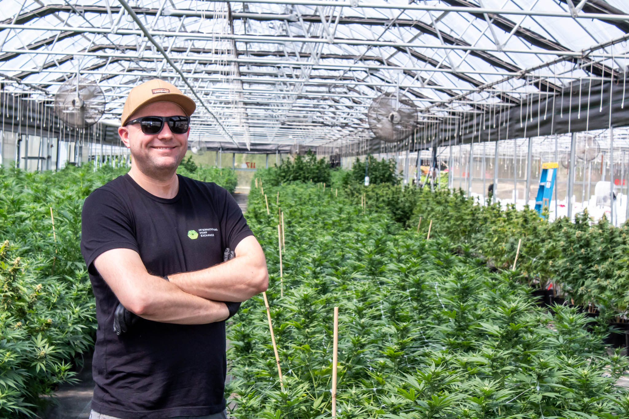 Mike Leago in a Greenhouse at iHEMPx